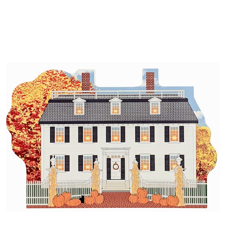 Autumn In Salem, Ropes Mansion w/pumpkins