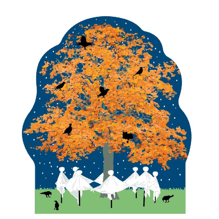 Halloween, Dancing Ghost Tree