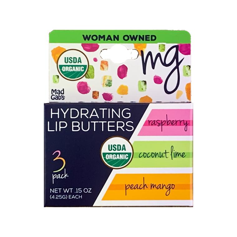 MG Signature Organic Lip Butter 3 Packs Hangable Peg