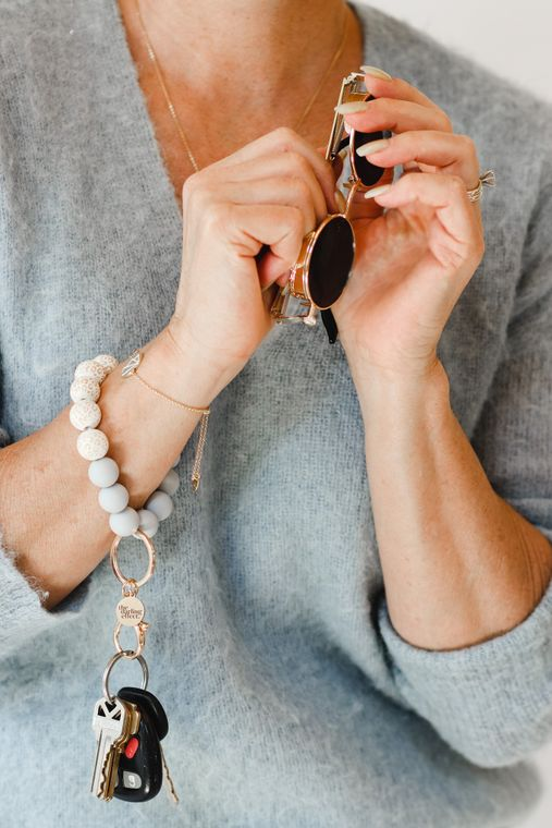 Hands-Free Silicone Beaded Keychain Wristlet - Urban Dreams