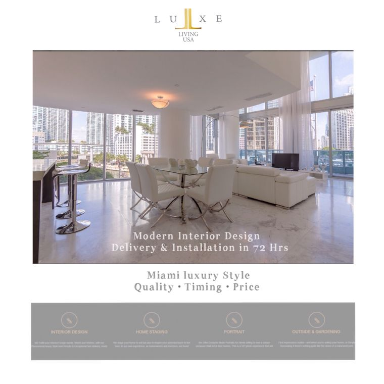 Interior design furniture package