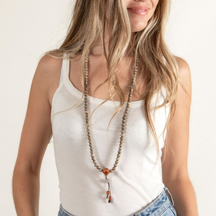 ACTIVATING CONCH SHELL MALA NECKLACE