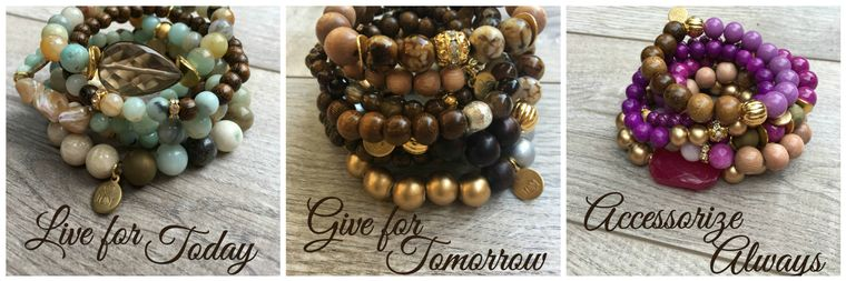 Semiprecious Gemstone Bracelets - Stack That Gives Back