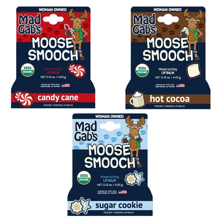 Organic Holiday Moose Smooch Hangable Peg Open Stock