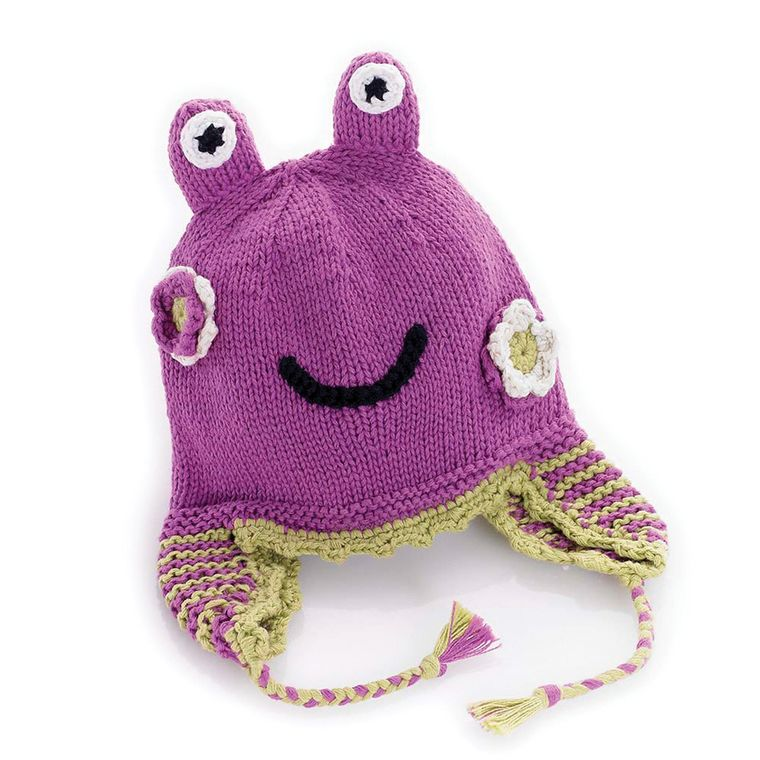 Mulberry Frog Hat  6-12m
