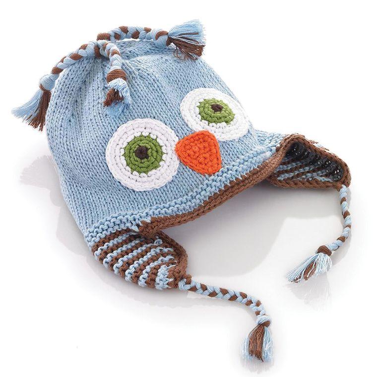 Blue Owl Hat 1-2y
