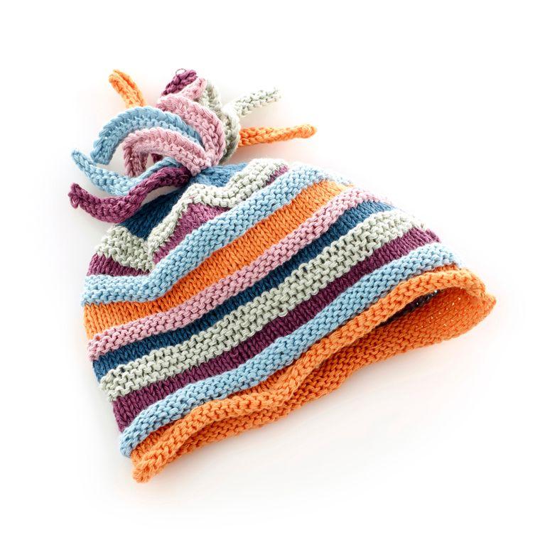 Organic Rainbow Hat 1-2y