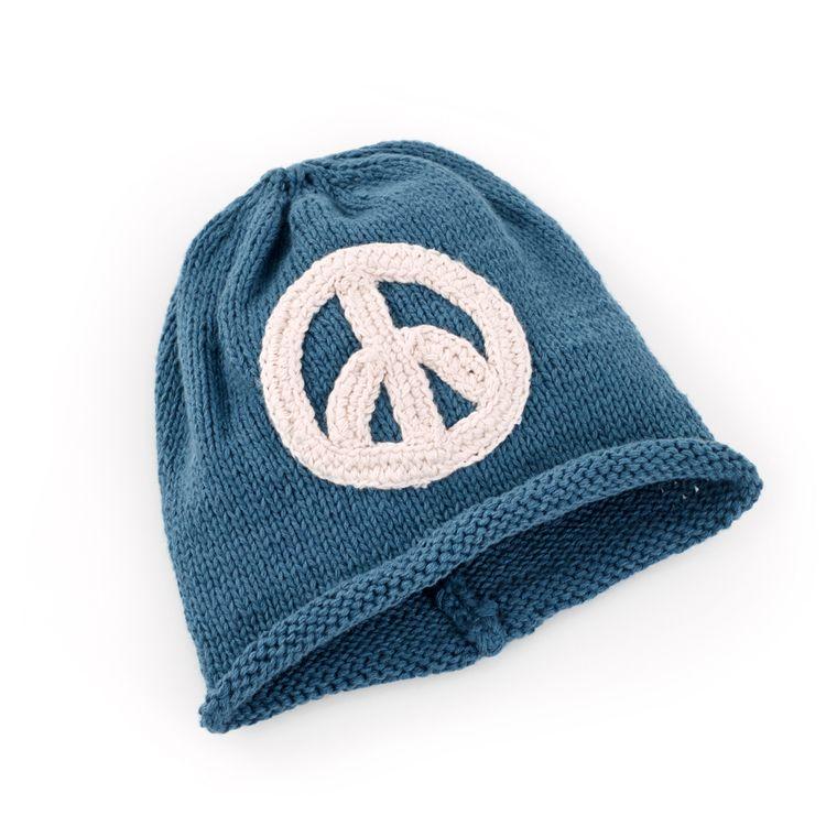 Peace Hat Blue 6-12M