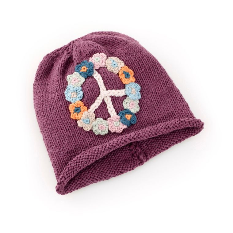 Peace Hat Soft Purple 0-6M