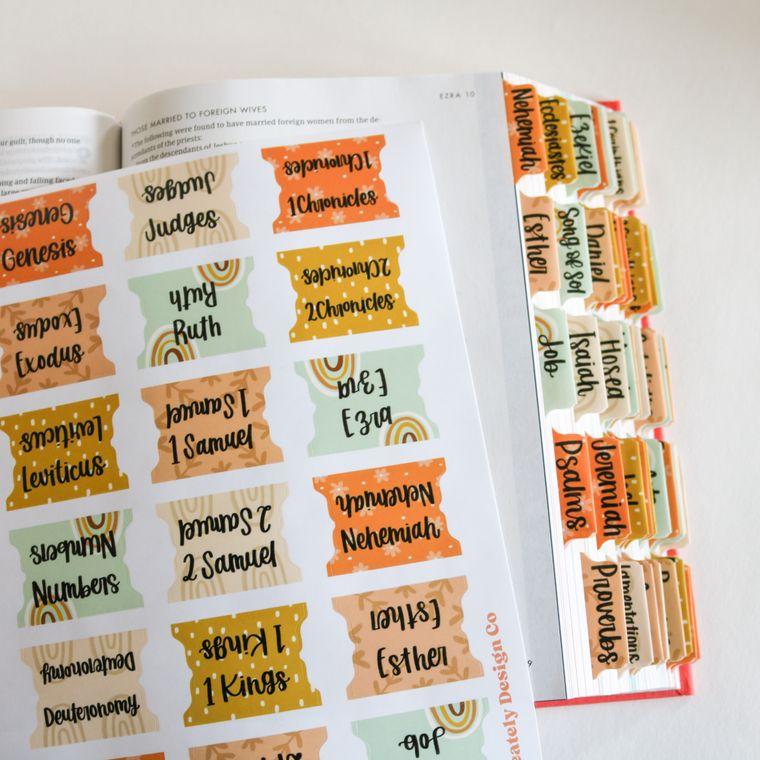 Boho Bible Tabs / Self Adhesive Bible Tab Stickers