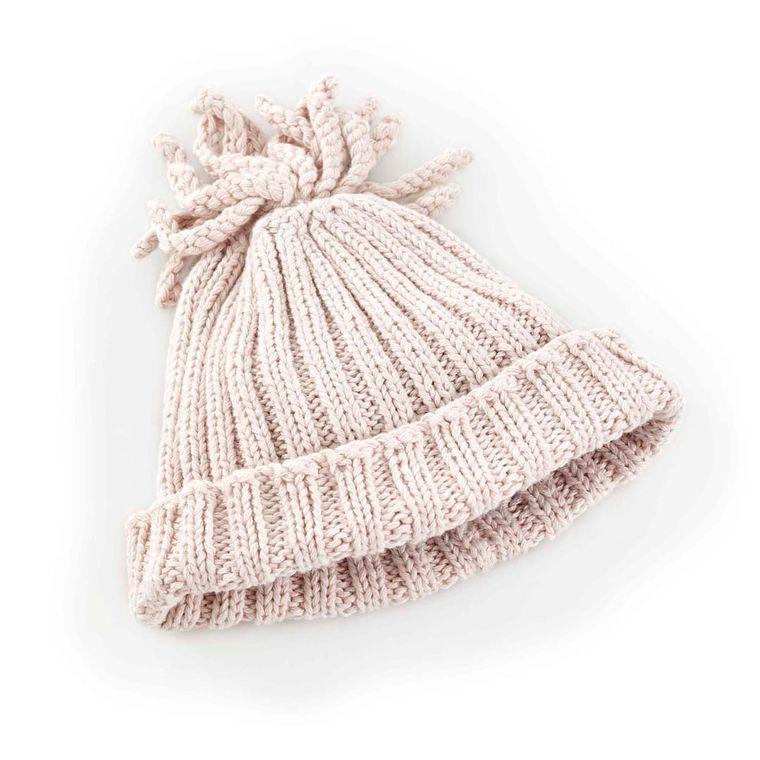 Ribbed Hat - Natural - 1-2Y