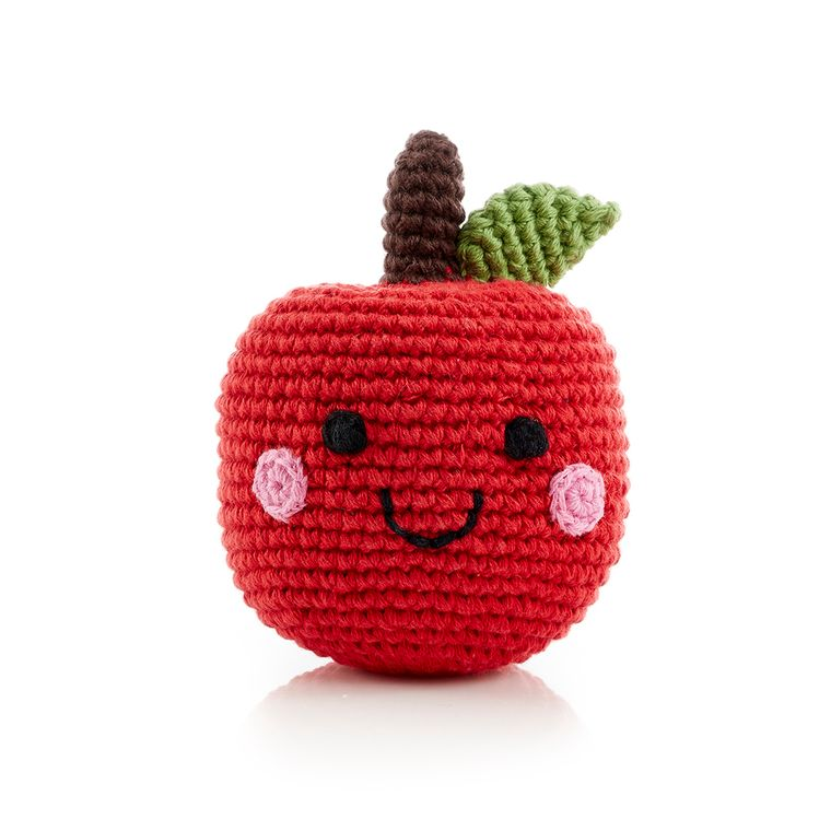 Friendly Fruit Rattle Apple