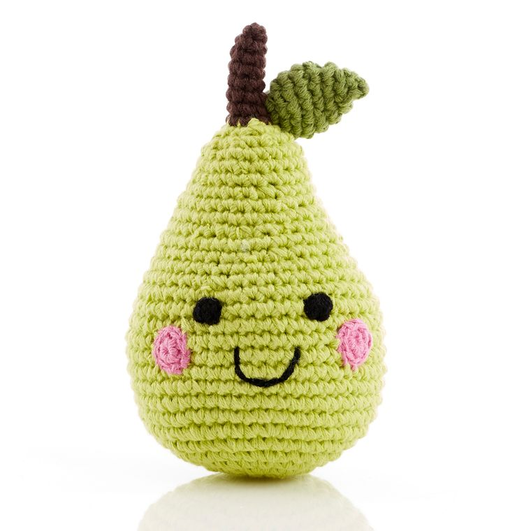 Friendly Fruit Rattle Pear