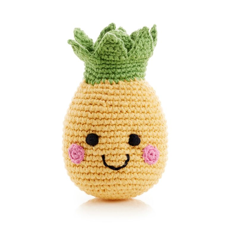 Friendly Fruit Rattle Pineapple