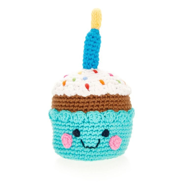 Friendly Cupcake with Candle