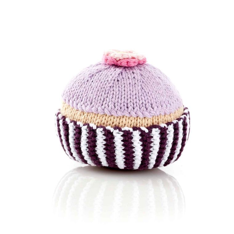 Cupcake Rattle Lilac