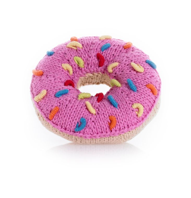 Donut Rattle Pink