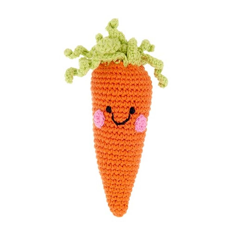 Friendly Carrot Rattle
