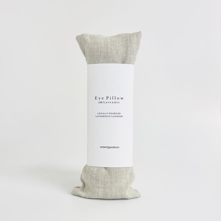 Flax Lavender Linen Eye Pillow with Slipcover