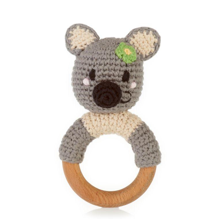 Wooden Teething Ring Rattle Koala