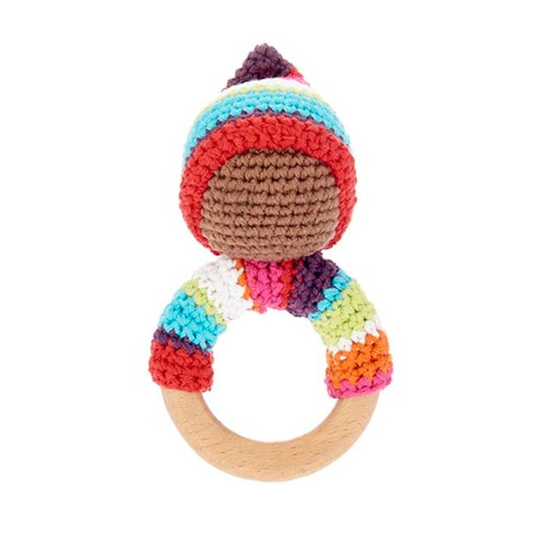 Pixie wooden ring - multi
