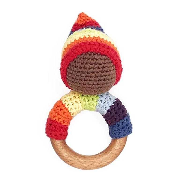 Pixie Wooden Ring - Rainbow