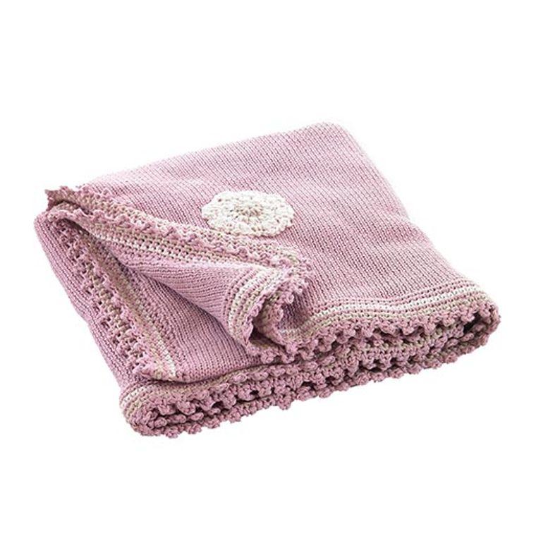 Organic Dusky Pink Blanket