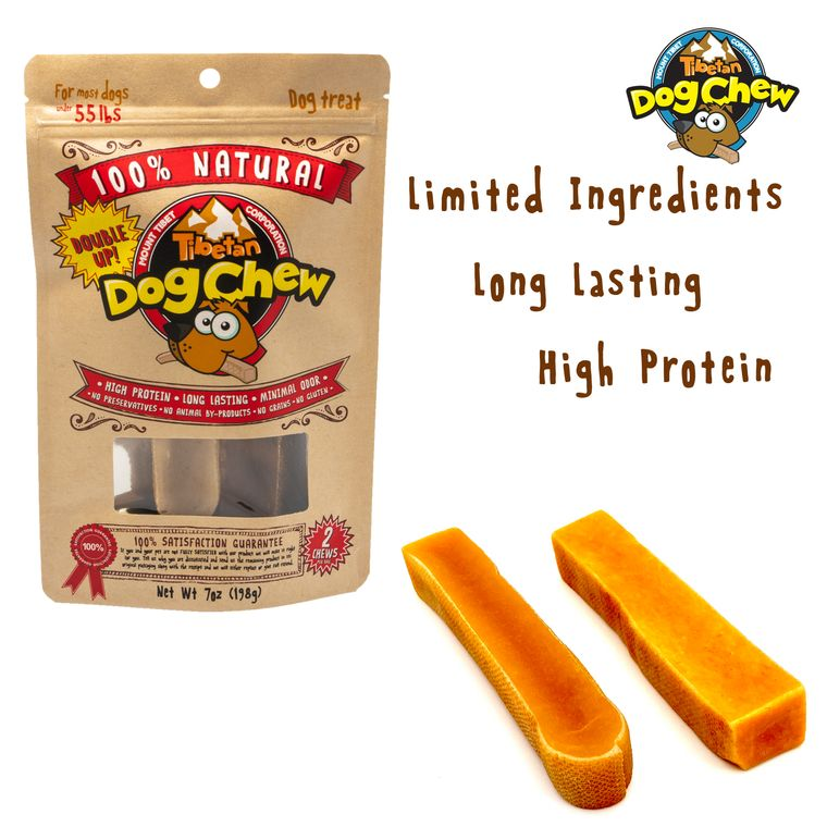 """Double Up – LARGE (Red Bag 7.0oz) """"For Most Dogs Under 55 lbs"""" 2 chews per bag"""