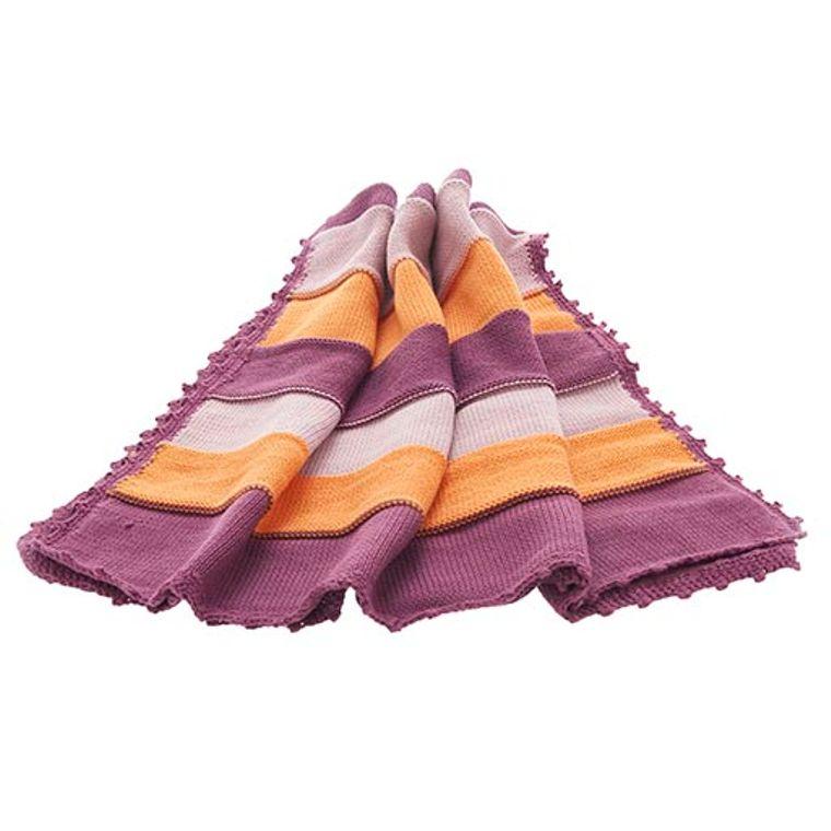 Organic baby blanket - soft purple