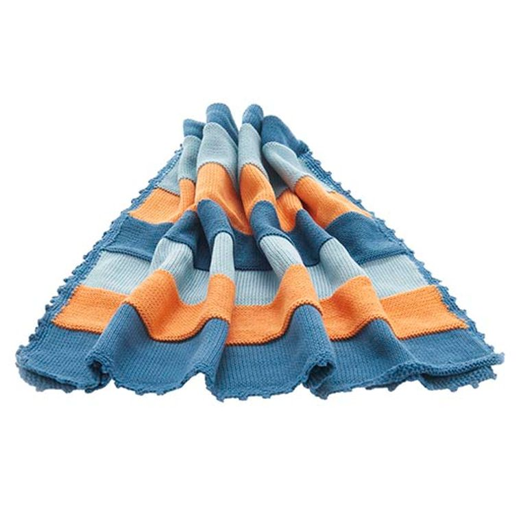 Organic baby blanket - petrol  blue
