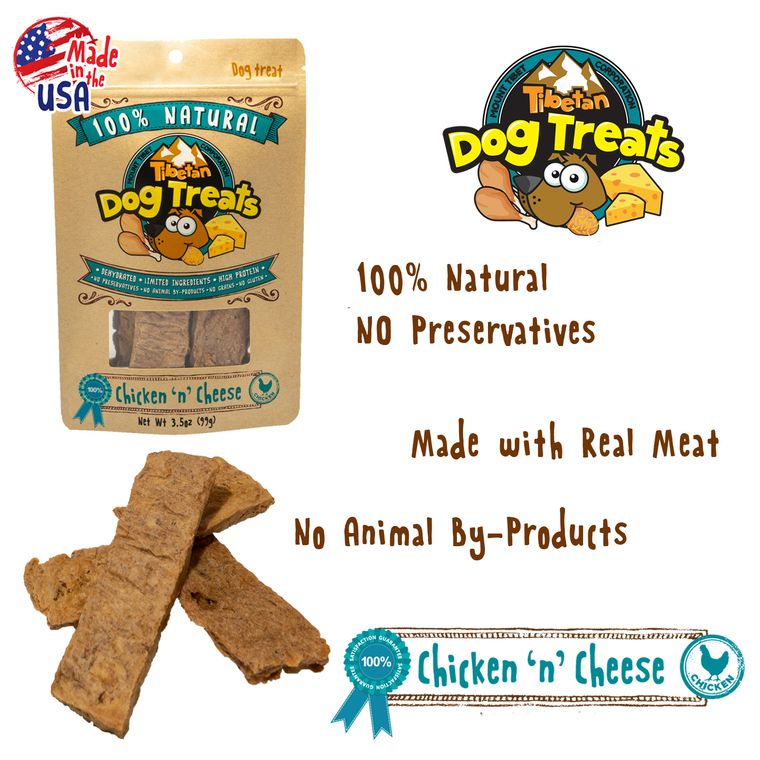 CHICKEN 'n' CHEESE (3.5oz Dehydrated Dog Treats)
