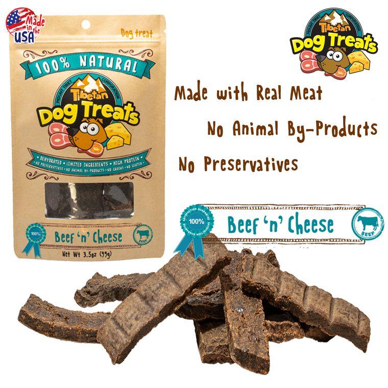 BEEF 'n' CHEESE (3.5oz Dehydrated Dog Treats)