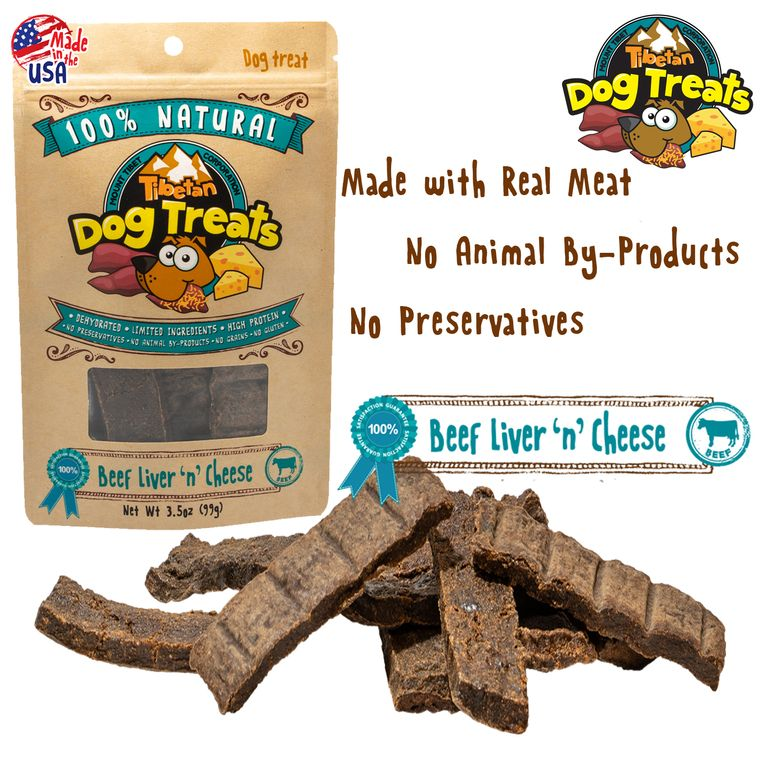 BEEF LIVER 'n' CHEESE (3.5oz Dehydrated Dog Treats)
