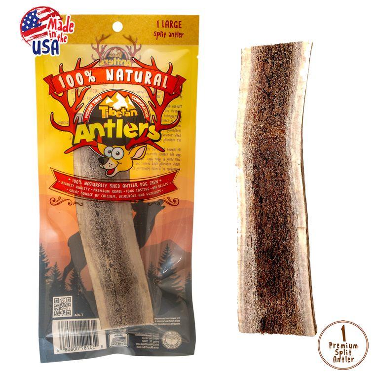 Tibetan Antlers are naturally shed, premium grade USA origin antlers! Large Split Antler