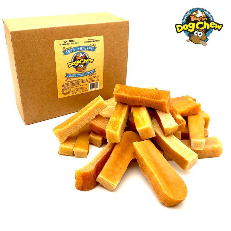 Tibetan Himalayan Yak Natural Dog Chew, Dog Toy Smoked Hard long lasting yak cheese ,27 stick pack