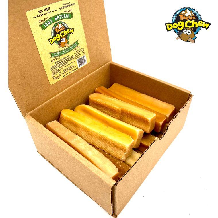 Tibetan dog chew -2pounds Medium, Himalayan Cheese Dog Treats - Long Lasting, Natural ,12 sticks