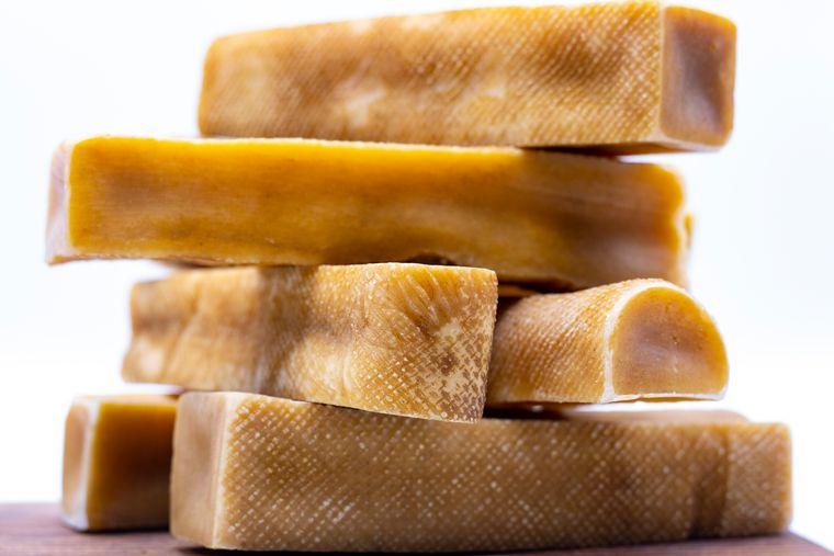 Tibetan Dog Chew-Himalayan yak cheese chew , Natural Long Lasting 2 pounds  Lbs. (10 sticks pack)