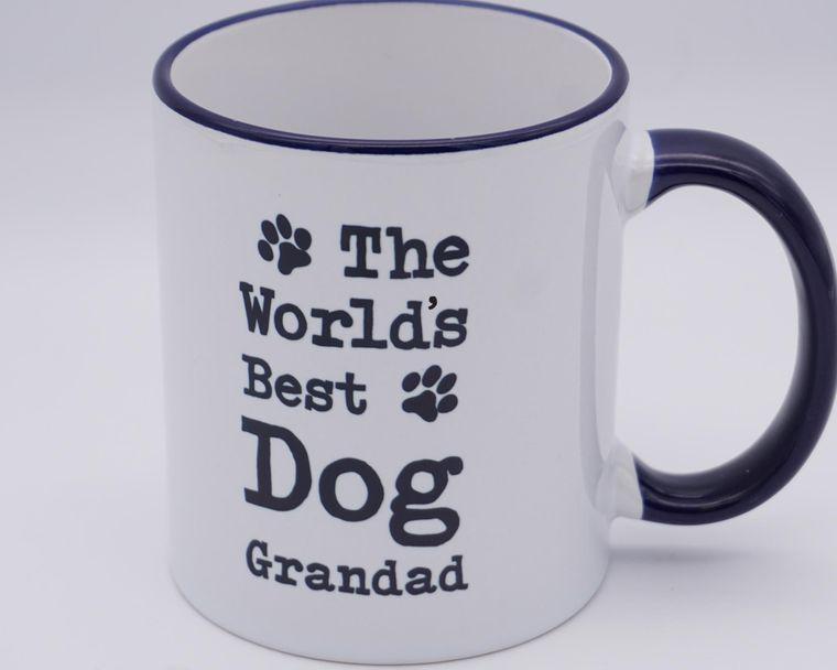 Worlds Best Dog Grandad Mug