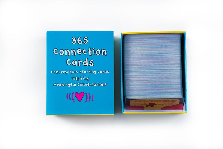 A box of connection cards