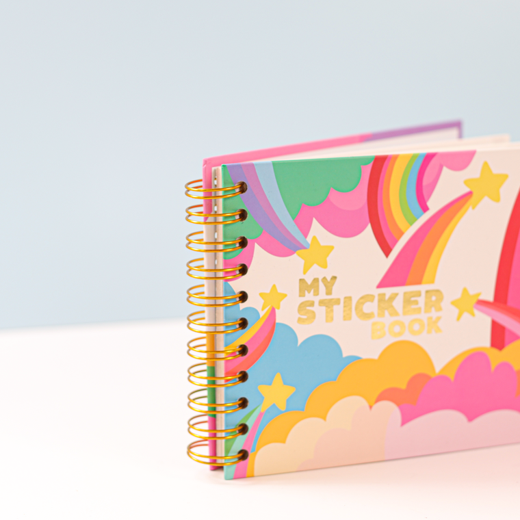 Retro Inspired Sticker Book with Peel Back pages