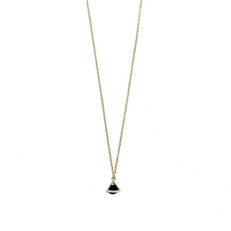Gold Necklace - Tiny Triangle Charm