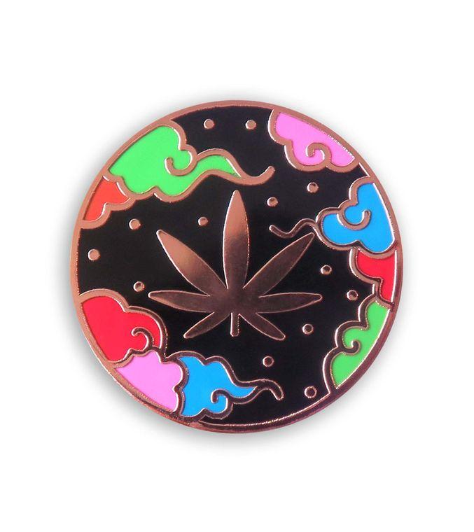 Leaf Enamel Pin, Cannabis Stoner gifts, Copper Legalize Marijuana Weed pin