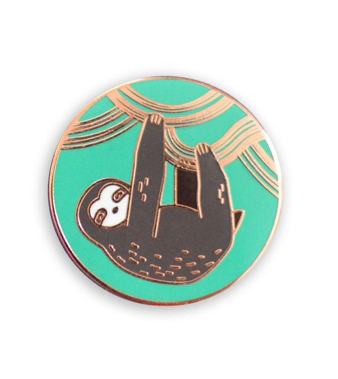 Sloth Pin, Baby sloth Cute enamel pins, Unique Sloth gift, Animal enamel pin Best friend gift idea, Hard enamel pins