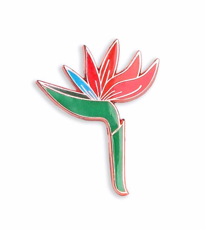 Bird of Paradise Flower / botanical pin, flower pin, plant pin