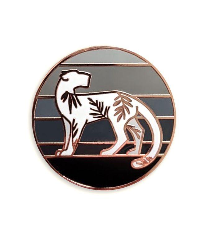 Black Jaguar Cat enamel pin, Tropical Jungle cat, Hard enamel pins, Big Cat Enamel Pin Badge, Unique cat lover gift