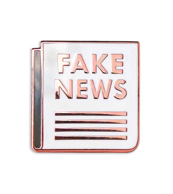 Fake News Enamel Pin, gifts, Donald Trump resist Flair badge