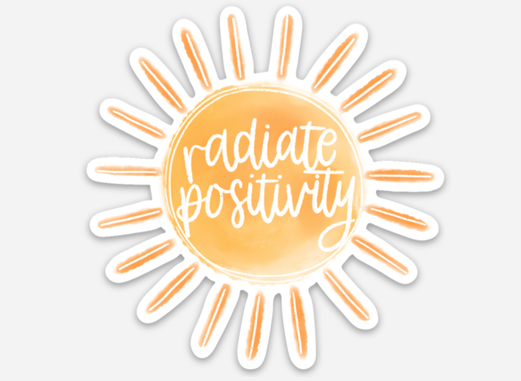 Radiate Positivity 3x3in. Sun Sticker