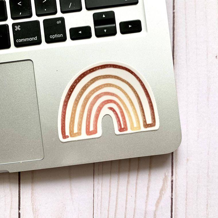 Boho Rainbow Sticker 3x3in.