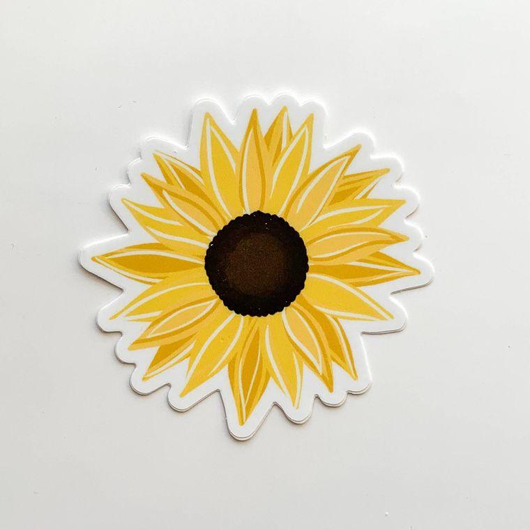 Sunflower Sticker 3x3in.