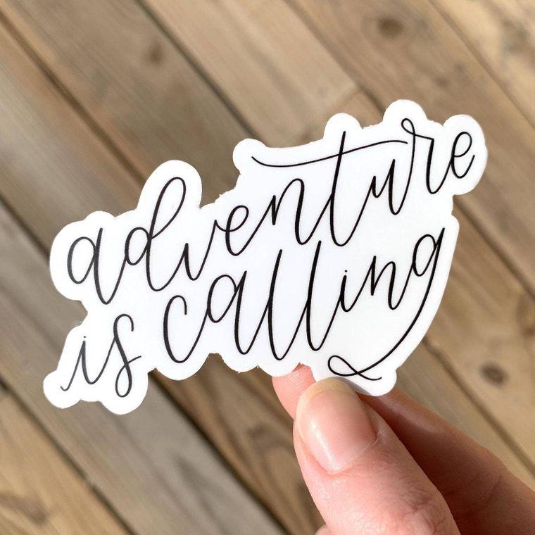 Adventure is Calling Sticker 3x2.5in.